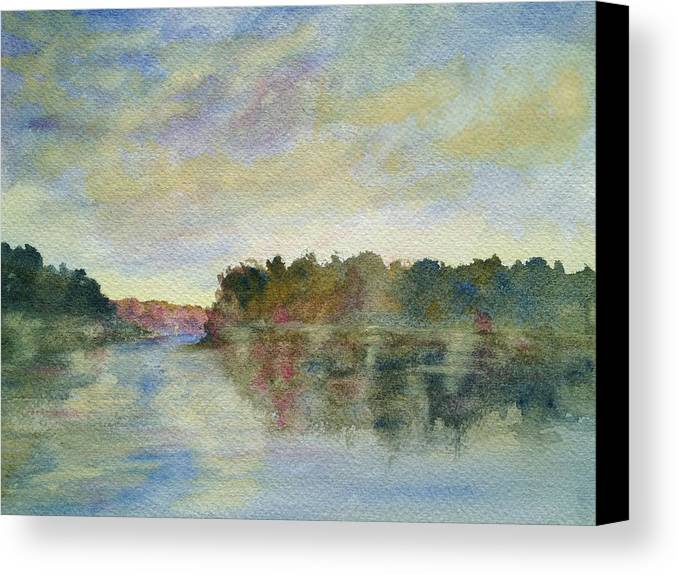 Malibu Lagoon Canvas Print featuring the painting Malibu Lagoon Impressions by Jan Cipolla