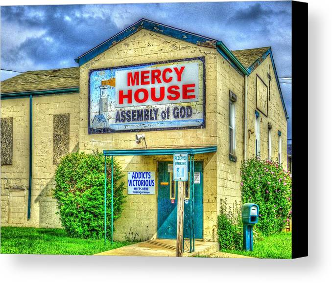 Mj Olsen Canvas Print featuring the photograph Mercy? by MJ Olsen
