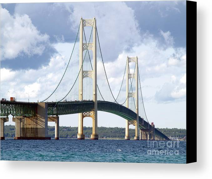 Bridge Canvas Print featuring the photograph Mighty Mac by Melissa McDole