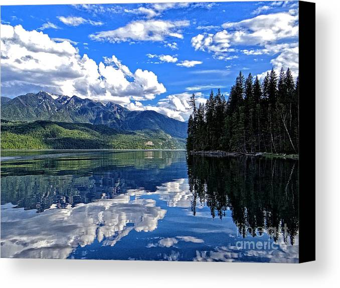 Canada Canvas Print featuring the photograph Mirror Lake by Mike Griffiths