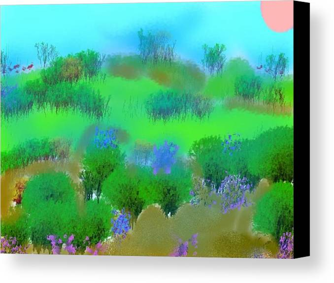 Morning Canvas Print featuring the digital art My Morning Window View by Dr Loifer Vladimir