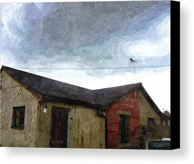 Old House Canvas Print featuring the painting My Old House by Philemon Maloka