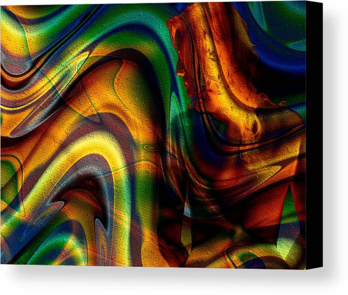 Naked Canvas Print featuring the digital art Naked Breeze by Kiki Art