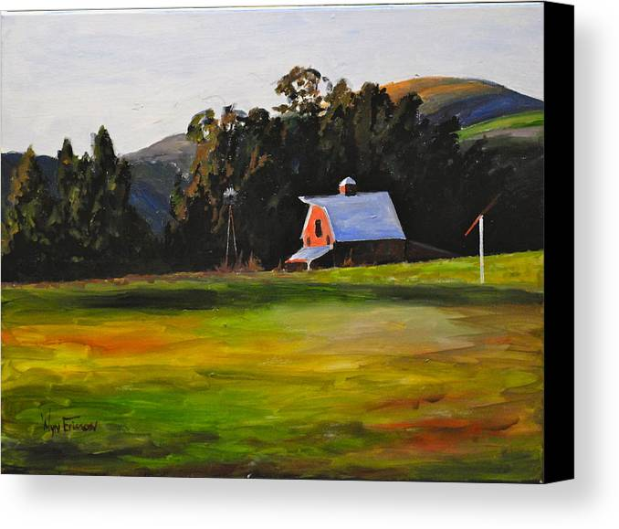 Farm Canvas Print featuring the painting Napa Farms by Wyn Ericson