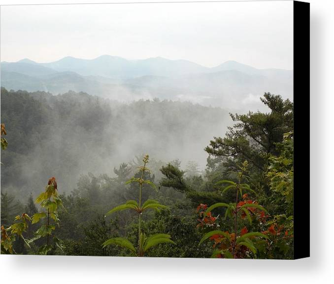 Canvas Print featuring the photograph Nc Smokey Mountains by Regina McLeroy