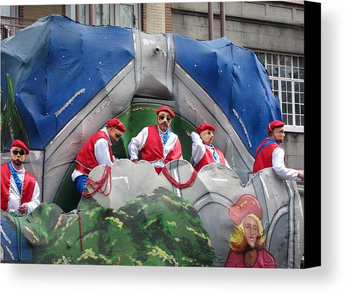 New Canvas Print featuring the photograph New Orleans - Mardi Gras Parades - 121294 by DC Photographer