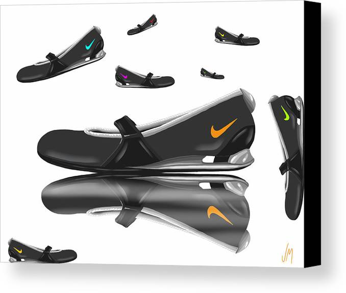 Digital Canvas Print featuring the painting Nike by Veronica Minozzi