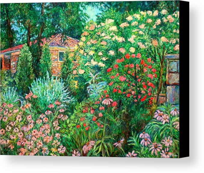 Garden Canvas Print featuring the painting North Albemarle In Mclean Va by Kendall Kessler