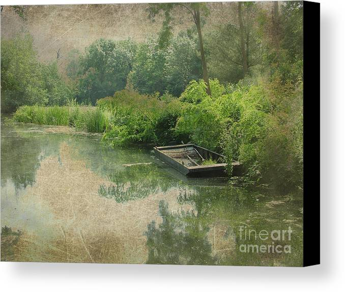 Boat Canvas Print featuring the photograph Old Bateau by Michelle Orai