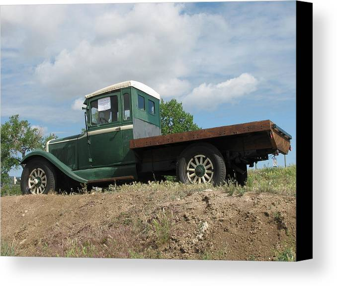 Transportation—plane Canvas Print featuring the photograph Old Dodge Truck by Steven Parker