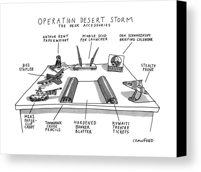 Operation Desert Storm The Desk Accessories Canvas Print