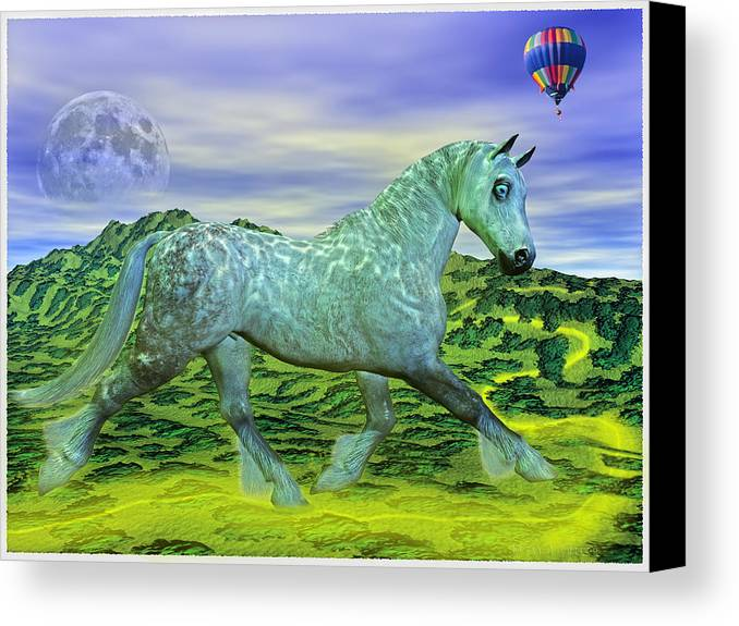 The Canvas Print featuring the mixed media Over Oz's Rainbow by Betsy Knapp