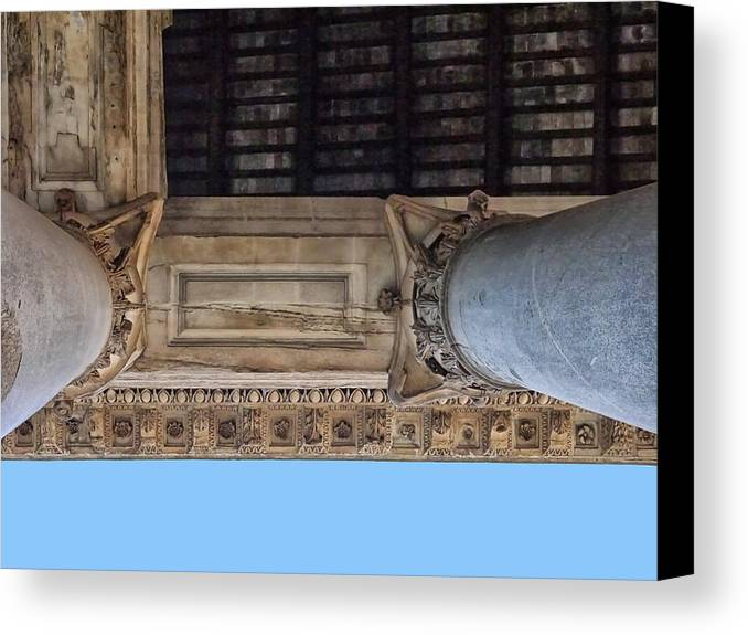 Canvas Print featuring the photograph Pantheon Pillars 5 by Herb Paynter