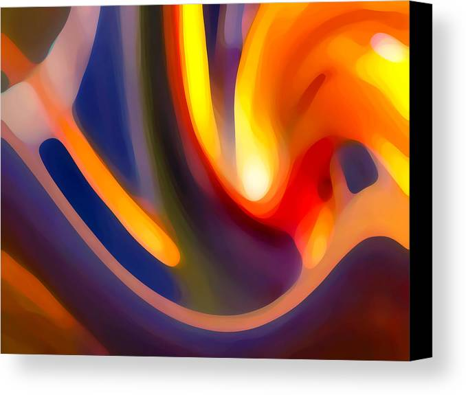 Abstract Art Canvas Print featuring the photograph Paradise Creation by Amy Vangsgard