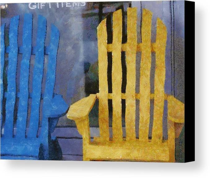 Chair Canvas Print featuring the painting Parking Spot by Jeffrey Kolker