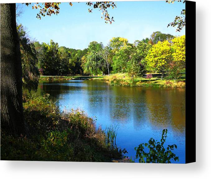 Summer Canvas Print featuring the photograph Peaceful Lake by Susan Savad