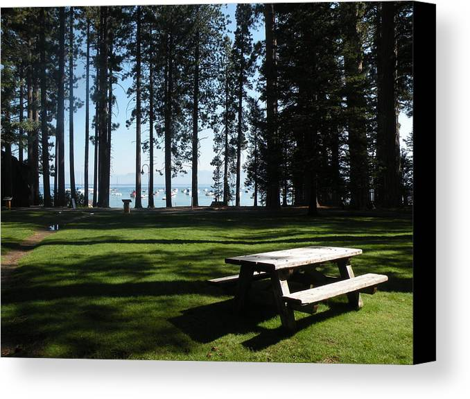 Parks Canvas Print featuring the photograph Picnic Place by Peter Hennessey