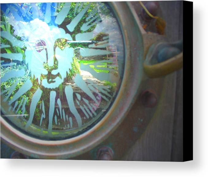 Porthole Canvas Print featuring the photograph Porthole To The Secret Garden by Amber Nissen