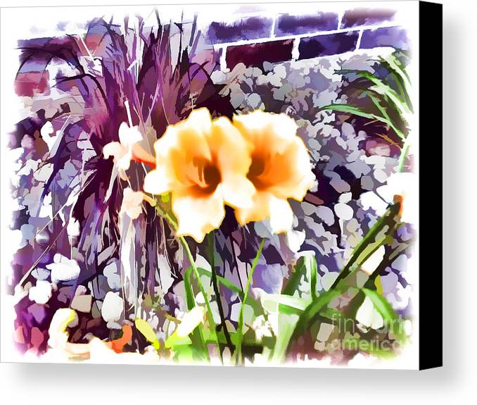 Flowers Canvas Print featuring the photograph Portrait To Painting by Jeremy Linot