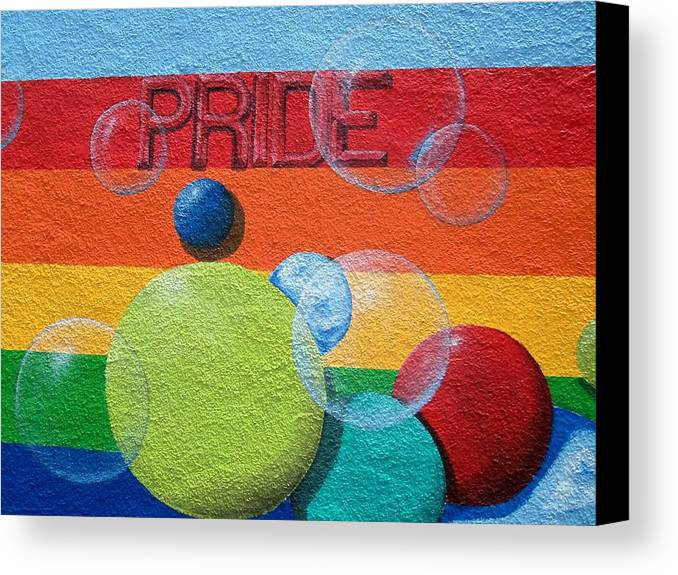 Equality Canvas Print featuring the photograph Pride 5 by Ron Kandt
