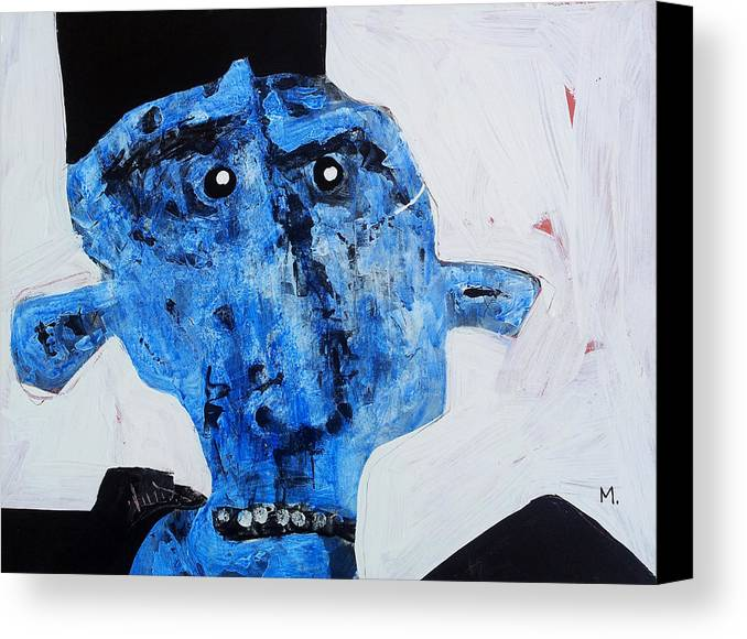 Face Canvas Print featuring the painting Protesto No. 8 by Mark M Mellon
