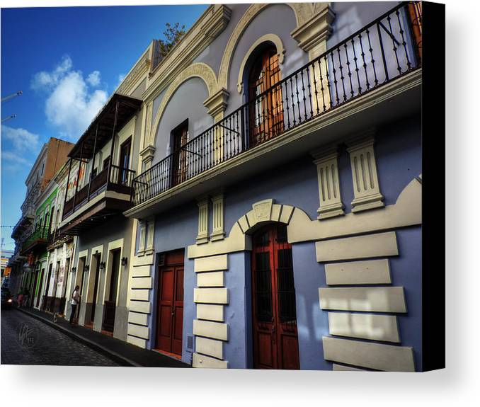 Puerto Rico Canvas Print featuring the photograph Puerto Rico - Old San Juan 002 by Lance Vaughn