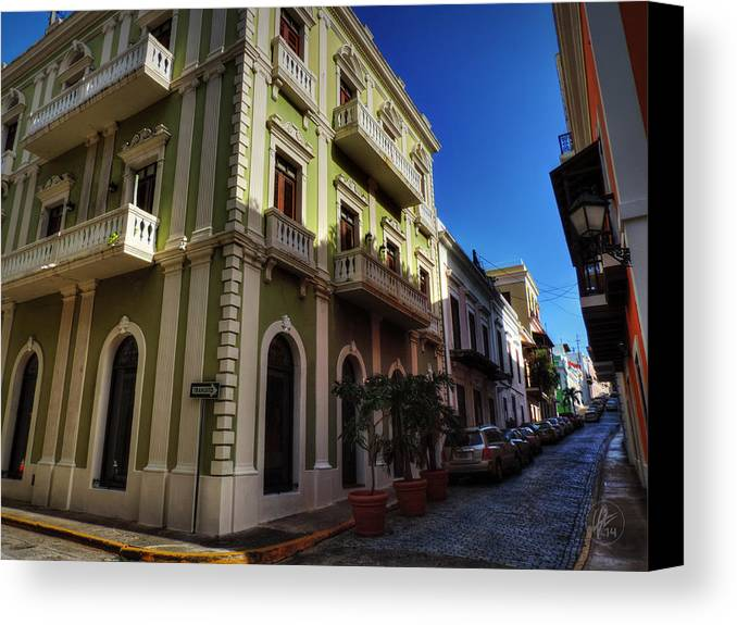Puerto Rico Canvas Print featuring the photograph Puerto Rico - Old San Juan 004 by Lance Vaughn