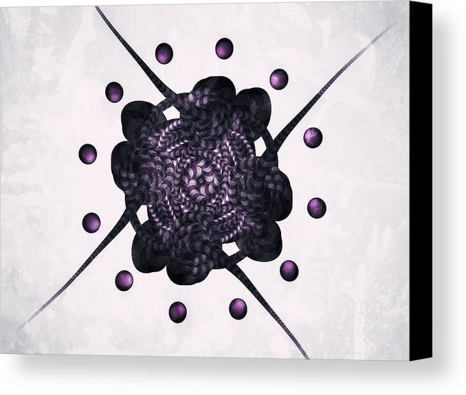 Abstract Canvas Print featuring the photograph Purple by Michael Jordan
