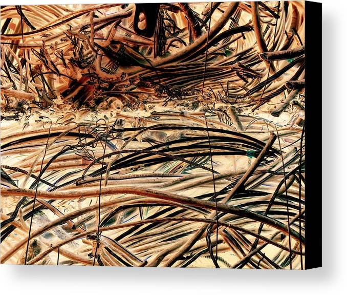 Construction Canvas Print featuring the photograph Recycled Wire 3 by Dietrich ralph Katz