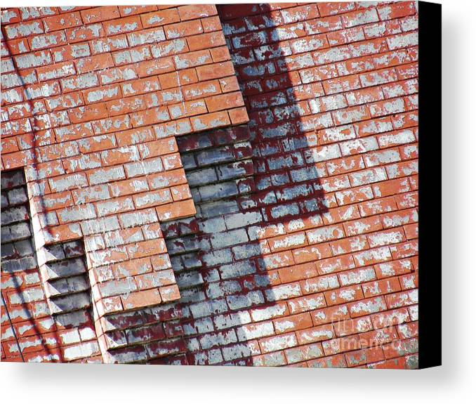 Wall Canvas Print featuring the photograph Red Wall by Sarah Loft