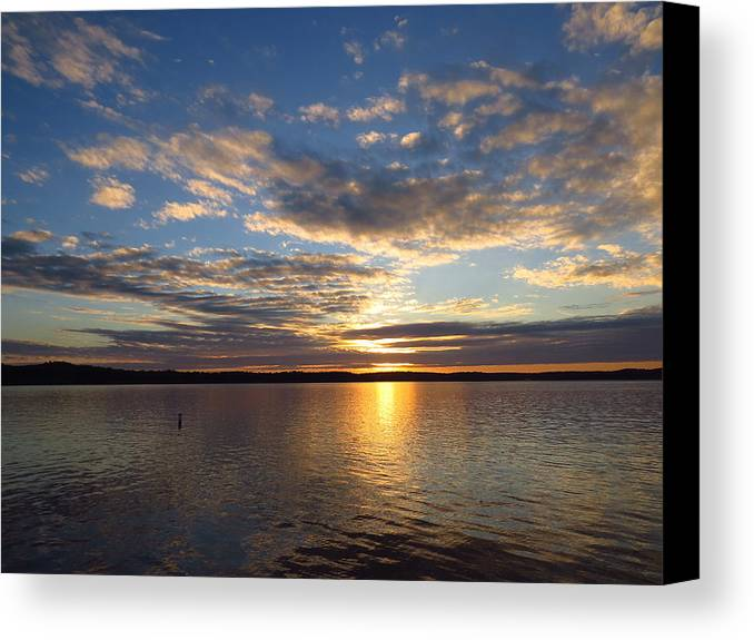 Sunset Canvas Print featuring the photograph Reflecting Glory by David Bouchard