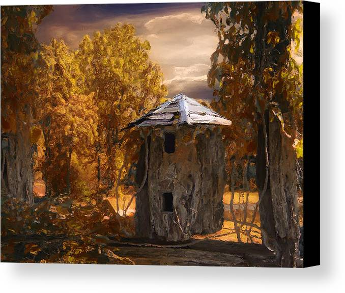 Silo Canvas Print featuring the painting Remains by Jack Zulli
