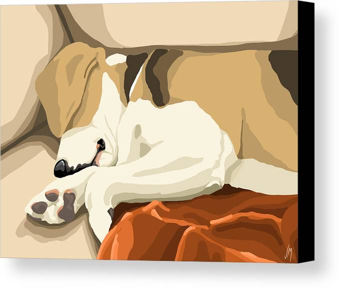 Digital Canvas Print featuring the painting Rest by Veronica Minozzi
