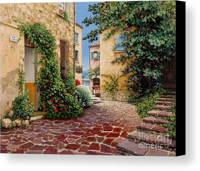 French Village Canvas Print featuring the painting Rue Anette by Michael Swanson