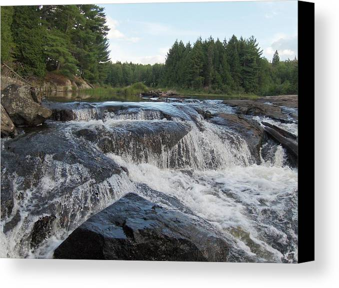Canada Canvas Print featuring the photograph Rushing Waters by Amanda Thorpe