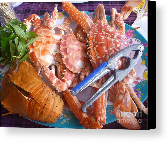 Food Canvas Print featuring the photograph Sea Food by Yury Bashkin