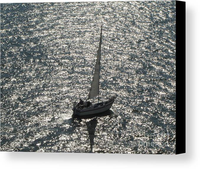 Sea Canvas Print featuring the pyrography Sea Near Monaco by Yury Bashkin