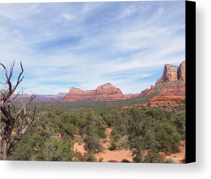 Arizona Canvas Print featuring the photograph Sedona Love by Two Bridges North