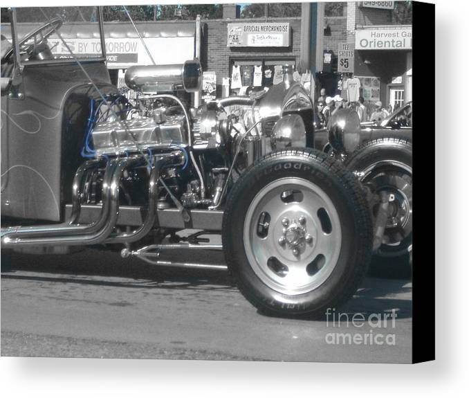 Car Canvas Print featuring the photograph Selective Color Classic by Christopher Kelley