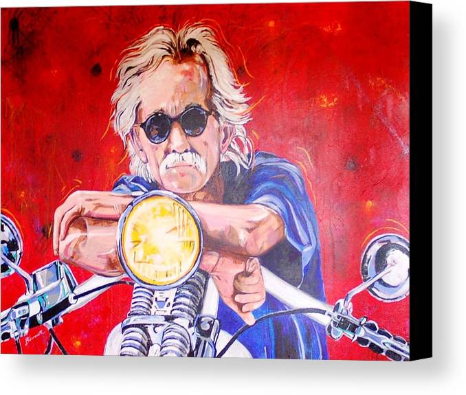 Painted Canvas Print featuring the painting Self Portrait by Mac Worthington