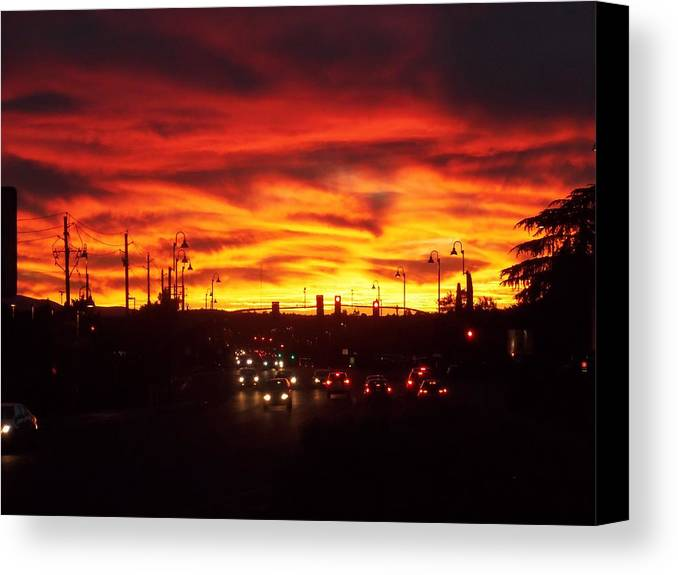 Arizona Canvas Print featuring the photograph Sky Fire by Two Bridges North