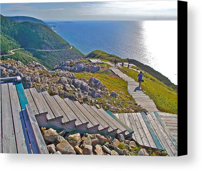 Skyline Trail In Cape Breton Highlands Np Canvas Print featuring the photograph Skyline Trail In Cape Breton Highlands Np-ns by Ruth Hager