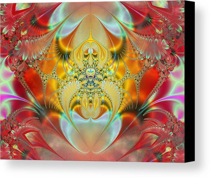 Abstract Canvas Print featuring the digital art Sleeping Genie by Ian Mitchell