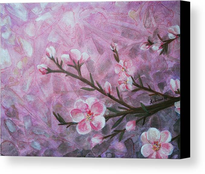 Blossom Canvas Print featuring the painting Snow Blossom by Arlissa Vaughn
