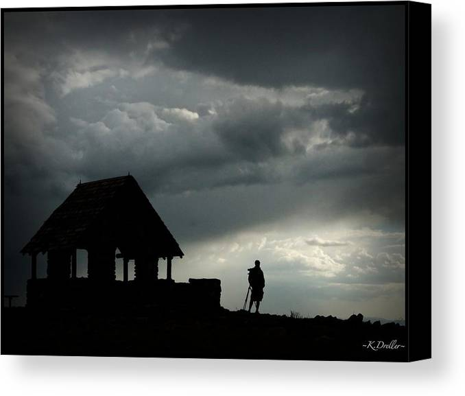 Solitary Canvas Print featuring the photograph Solitary Photographer by Kelly Dreller