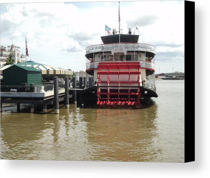 River Canvas Print featuring the photograph Steamer Natchez by Thad Burns