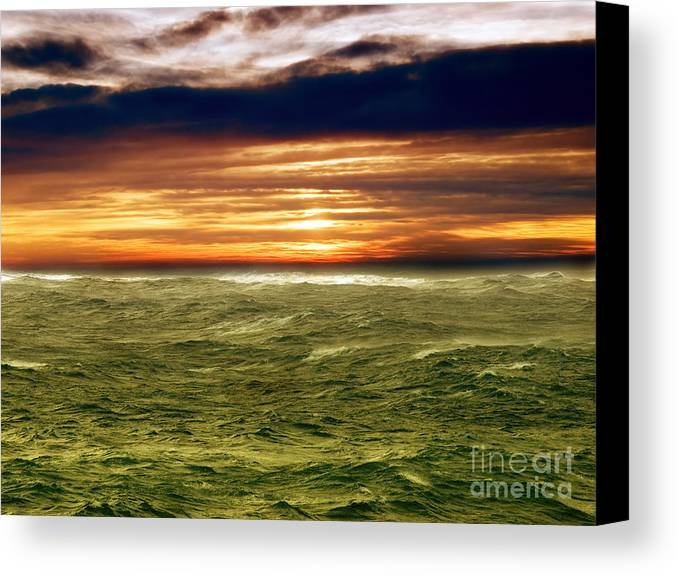 Wind Canvas Print featuring the photograph Stormy Sea by Sinisa Botas