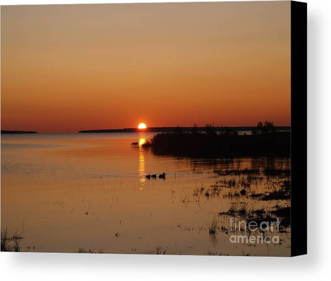 Mackinac Straits Canvas Print featuring the photograph Sunrise On Mackinaw by Melissa McDole