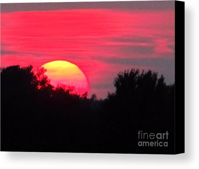 Sun Canvas Print featuring the photograph Sunset 365 17 by Tina M Wenger