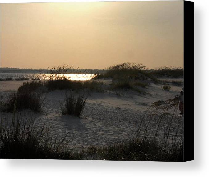 Beach Canvas Print featuring the photograph Sunset In P'cola by Debe Wilson